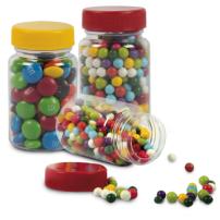 Frascos Plásticos con Dulces o Chocolates por 40 gr